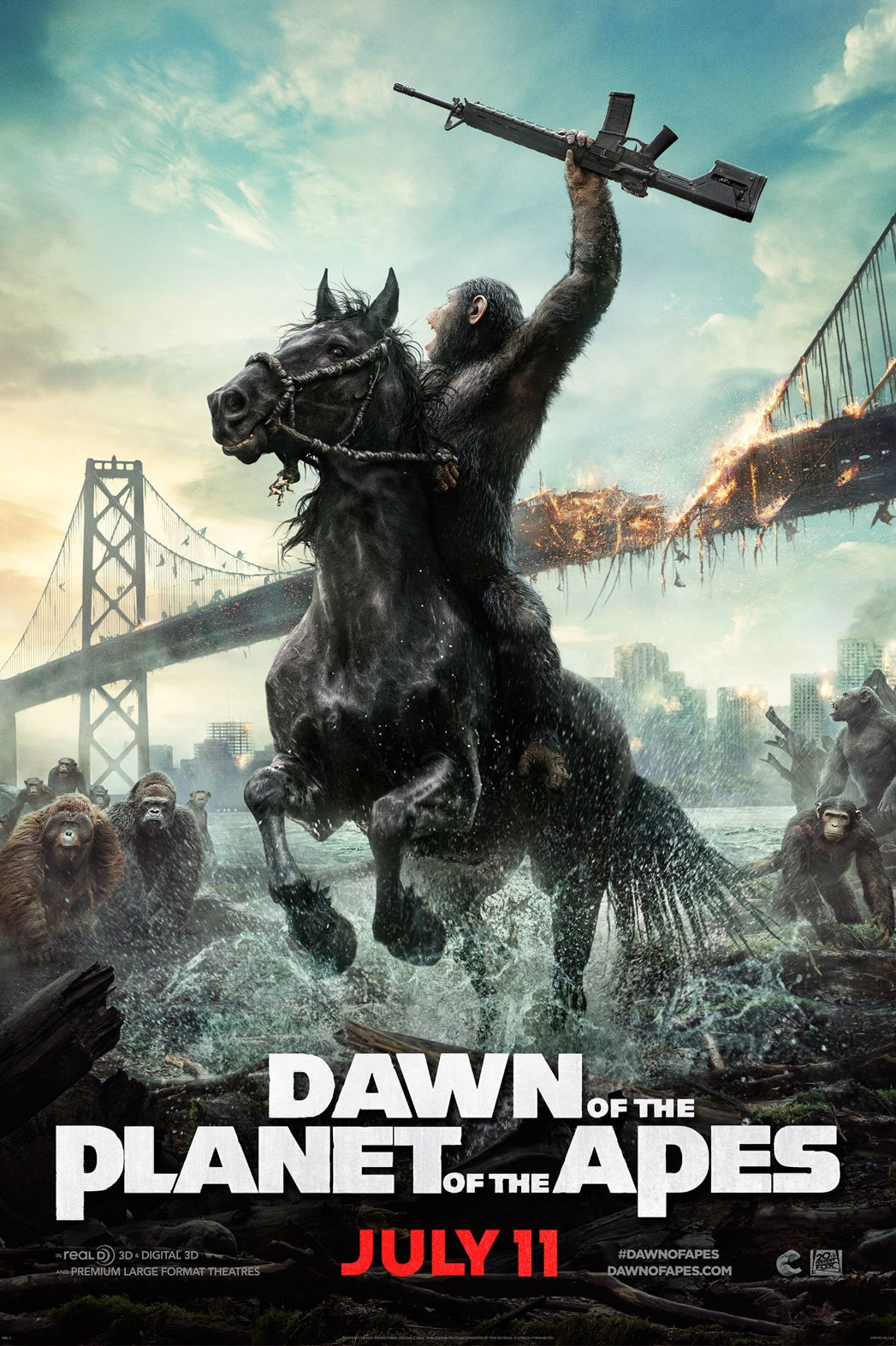 Film Review - DAWN OF THE PLANET OF THE APES - Nerdy Rotten Scoundrel