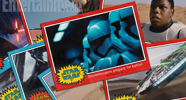 Retro STAR WARS Trading Cards Reveal THE FORCE AWAKENS Character Names